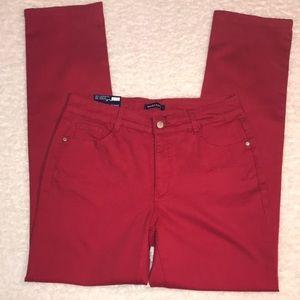Bandolino Red Jeans Caroline 10 NWT